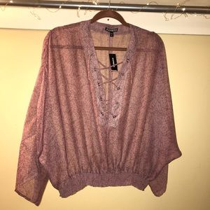 Express Sheer Top size small